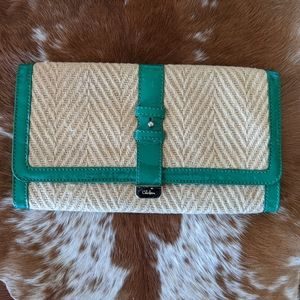 Cole Haan Basket Weave Straw Clutch